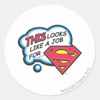 Ceci ressemble à un travail pour Superman Sticker Rond