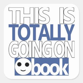 Ceci va totalement sur des autocollants de Faceboo