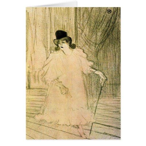 Cecy Loftus par Toulouse-Lautrec Carte De Vœux