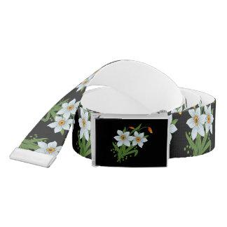 Ceinture Arrière - plan noir de fleurs de tulipes et de