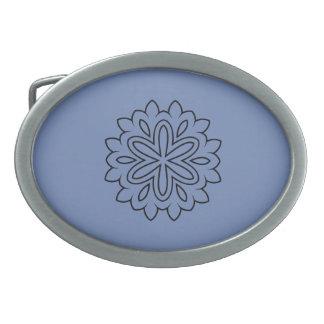 Ceinture de luxe dans le style de bleu d'hiver boucle de ceinture ovale