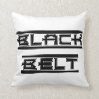 Ceinture noire audacieuse d'arts martiaux oreillers