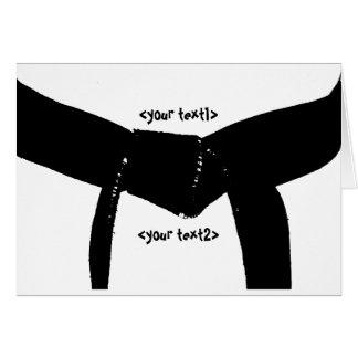 Ceinture noire d'arts martiaux cartes de vœux