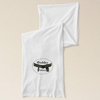 Ceinture noire de deuxième degré d'arts martiaux foulard