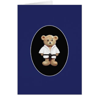 Ceinture noire de judo carte de vœux