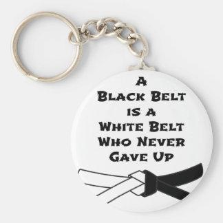 Ceinture noire porte-clé rond