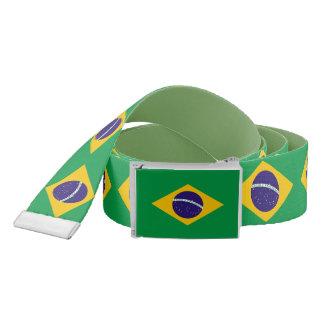 Ceinture patriotique avec le drapeau du Brésil