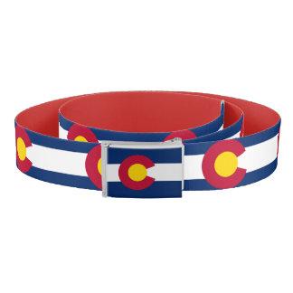 Ceinture patriotique avec le drapeau du Colorado,
