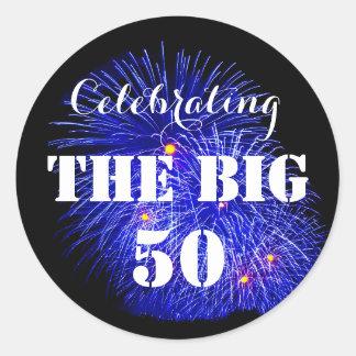 Célébrant les GRANDS 50 - Sticker Rond
