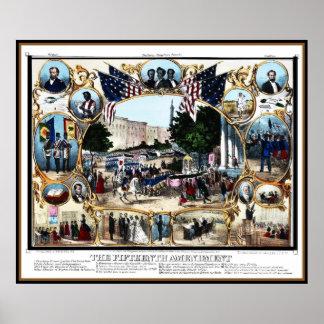 Célébration 1870 d'amendement de cru d'affiche 15è poster