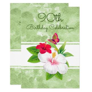 Célébration audacieuse d'anniversaire de Buttefly Carton D'invitation 12,7 Cm X 17,78 Cm