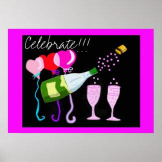 Célébration Champagne Poster