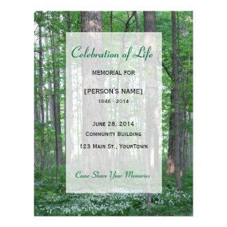 Célébration commémorative de forêt Invitatition de Prospectus 21,6 Cm X 24,94 Cm