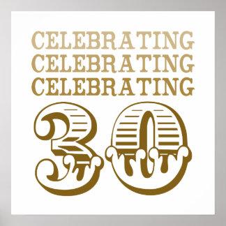 Célébration de 30 ! (Fête d'anniversaire) Posters