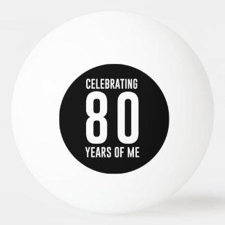 Célébration de 80 ans de moi balle tennis de table
