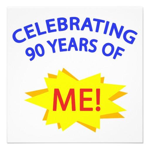 Célébration de 90 ans de moi ! cartons d'invitation