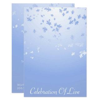 Célébration de bleu argenté vivant de VIP Carton D'invitation 8,89 Cm X 12,70 Cm