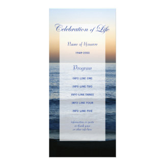 Célébration de bleu d'océan de carte de programme