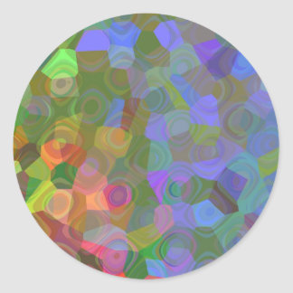 Célébration de couleur sticker rond