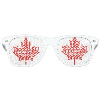Célébration de jour du Canada Lunettes De Fête Retro