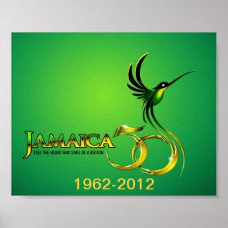 Célébration de l'affiche de la Jamaïque cinquantiè Affiche