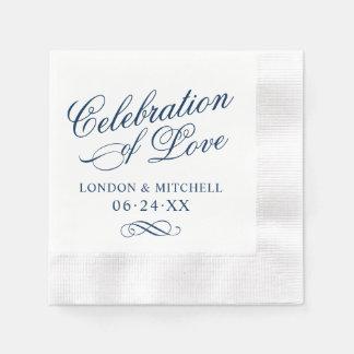 Célébration de l'élégance de classique de marine serviette en papier