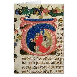 Célébration de l'eucharistie carte de vœux