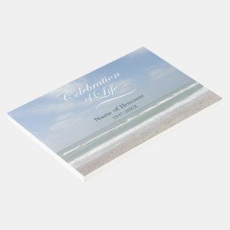 Célébration de livre d'invité commémoratif d'océan