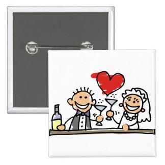 Célébration de mariage badge avec épingle