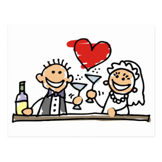 Célébration de mariage carte postale
