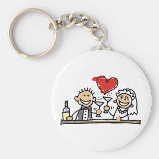 Célébration de mariage porte-clés