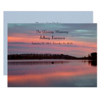 Célébration de pêcheur de coucher du soleil carton d'invitation  12,7 cm x 17,78 cm
