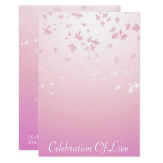 Célébration de rose argenté vivant de VIP Carton D'invitation 8,89 Cm X 12,70 Cm
