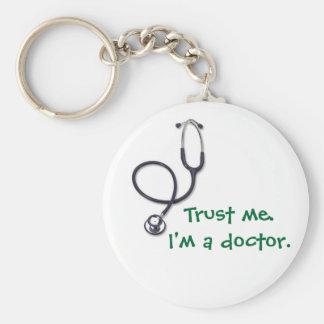 Célébration des soins et de la médecine porte-clé rond