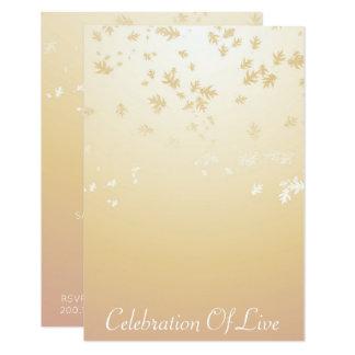 Célébration d'ivoire vivant de VIP Ombre Carton D'invitation 8,89 Cm X 12,70 Cm