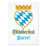 Célébration d'Oktoberfest Carton D'invitation 12,7 Cm X 17,78 Cm