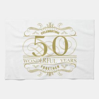 Célébration du cinquantième anniversaire linge de cuisine