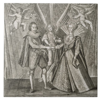 Célébration du mariage de James VI et I (156 Grand Carreau Carré