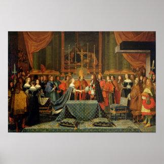 Célébration du mariage de Louis XIV Posters