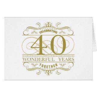 Célébration du quarantième anniversaire cartes de vœux