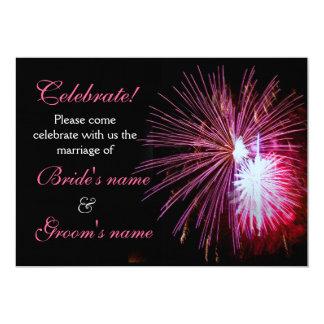Célébration épousant le rose 2 carton d'invitation  12,7 cm x 17,78 cm
