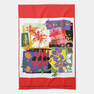Célébration florale - serviette de cuisine