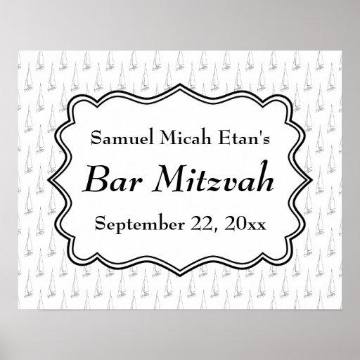 Célébration nautique de Mitzvah de barre de bateau Posters