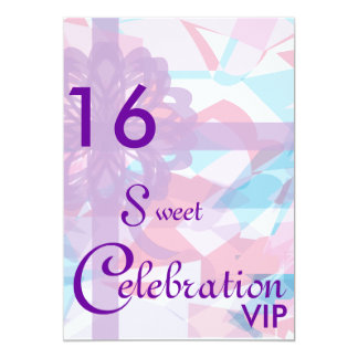 Célébration-Personnaliser de bonbon à VIP seize Carton D'invitation 12,7 Cm X 17,78 Cm
