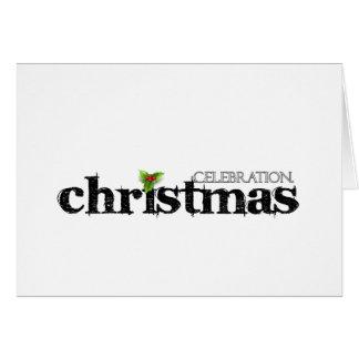 Célébrez - Cristmas. Carte De Vœux