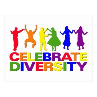 Célébrez la carte postale de diversité