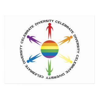 Célébrez la diversité carte postale