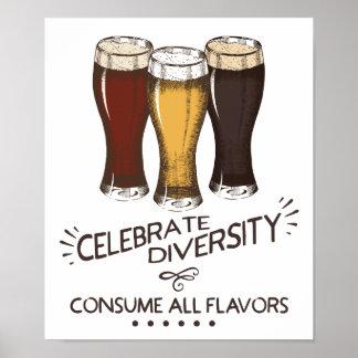 Célébrez la diversité consomment tout l'amant de poster