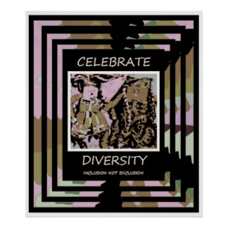 Célébrez la diversité - exclusion d'inclusion PAS Poster