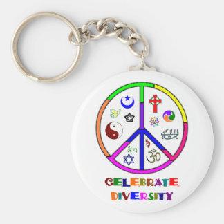 Célébrez la diversité porte-clé rond